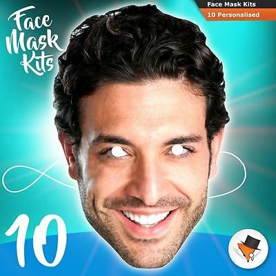 10 Face Masks Photo DIY KITS Personalised For Hen Parties Birthdays Stag Party!