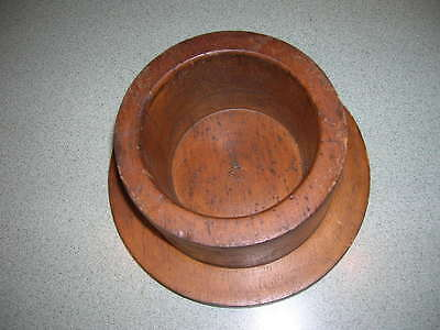 Antique Machine Age Industrial Wood Foundry Mold Pattern ~ Round Natural Wood