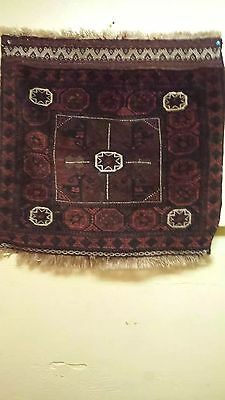 antique Persian rug tribal 30x31 in. Tribal,  Excellent. ..