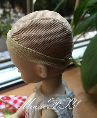Hairnet Headgear Beige Cap DIY Wig/Hair For 1/4 BJD Dolls MSD AOD DOD