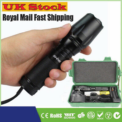 6000lm T6 LED Portable Flashlight Rechargeable Tactical Torch 18650 Battery UK