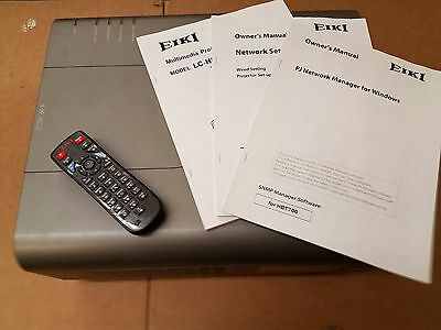 EIKI LC-HDT700 Projector Deep Cleaned, New Lamp, New Filter and New Remote