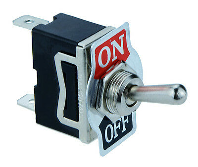 On/Off Toggle Flick Switch 2-Pin 15A SPST