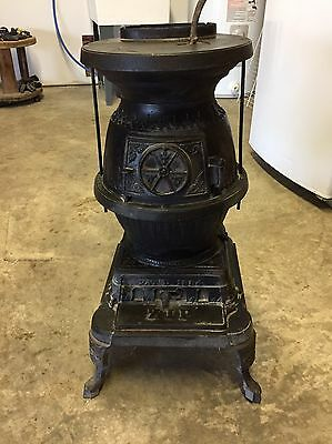Antique Vintage Co Operative Stove Co 1885 Cast Iron Pot Belly Stove