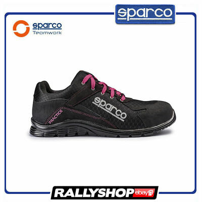 SPARCO PRACTICE shoes Racing Boots Race Sport Rally Mechanics S1P Black Pink