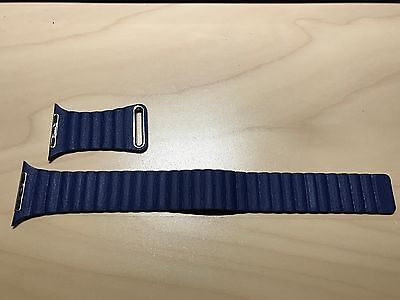 Apple Watch Band Strap Leather Loop Blue 42mm