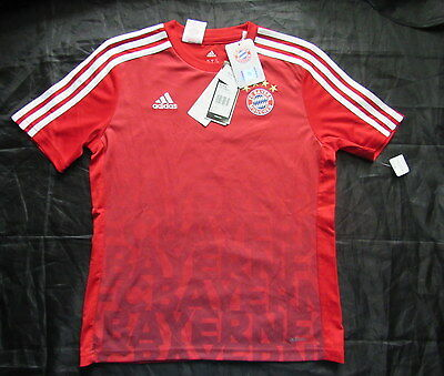 BAYERN MUNICH Training jersey shirt ADIDAS 2015-2016 BOY M 12-12 Yrs/ 152cm NEW!