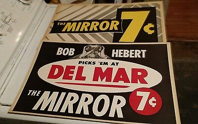 vintage horse racing collectible sign