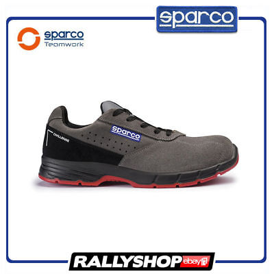 SPARCO CHALLENGE shoes Racing Boots Race Leather Rally Mechanics S1P Black Grey