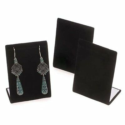 Black Velvet Leaning Earring Stands / Jewelry Displays 3.5 Inches Tall 3