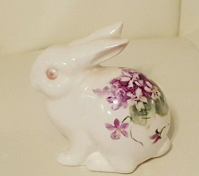 Vintage Hand Painted Porcelain China Bunny Rabbit Figurine H.Somers Studio