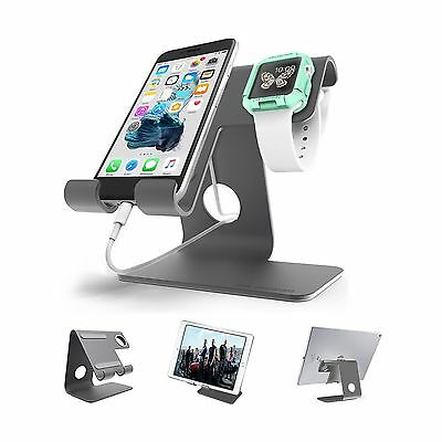 Universal 2 in 1 Cell Phone Desktop Tablet Stand ZVE Apple Iwatch Charging St...