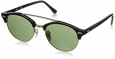 Ray-Ban RB4346 901 Clubround Black Frame Green Classic 51mm Lens Sunglasses