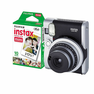 Fujifilm Fuji Instax Mini 90 NEO Classic Camera Black with 10 Shots