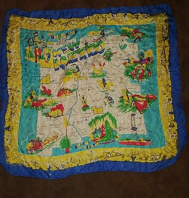 2 Vintage New Mexico Silk Souvenir Scarves The Sunshine State 30 Inch Travel