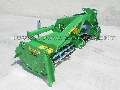 """Rotary Tiller, Heavy Duty Valentini U2500 8'-6"""" Tractor 3-Pt, PTO: 140HP Gearbox"""