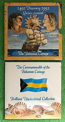 Commonwealth Of The Bahamas, 1492 1992 Quincentennial, 7 Coin Year Set & GIFT!