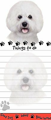 Bichon Frise Magnetic Post It Dog Breed Stationery Notepad
