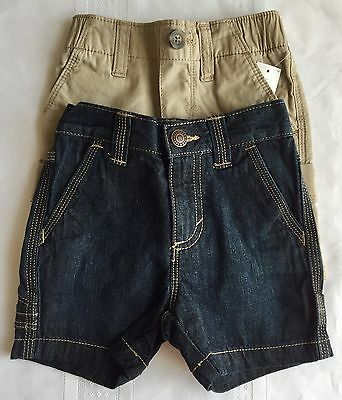 Lot Of 2 NWT Infant Baby Boy Cotton Shorts 12-18 Months