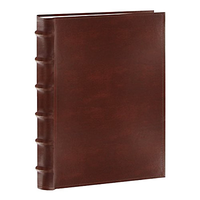 Photo Pioneer Sewn Leather Album 4x6 Cover Frame Holds 300 Photos, Brown, New