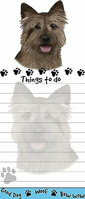 Cairn Terrier Magnetic Post It Dog Breed Stationery Notepad