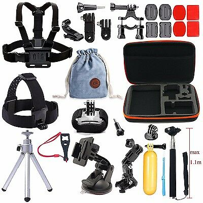 Accessories Kit for GoPro Hero 5 4 3 2 1 Session SJ 4000 5000 6000 Sports action
