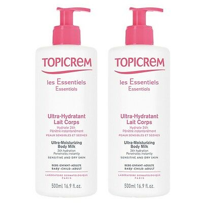Topicrem Les Essentiels Ultra-Hydratant Lait Corps Lot de 2 x 500ml
