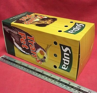 "Carrying Box 9.5 x 4.5"" Budgies Canary Finch Carry Home Vets Transport Air Holes"