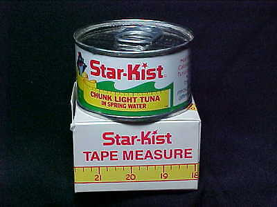 Rare 1960's Vintage CHARLIE THE TUNA Starkist Can Measuring Tape in original box