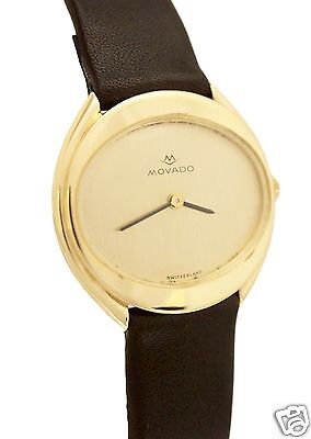 Vintage Movado 14K Yellow Gold Hand-Winding Circa 1970s Watch