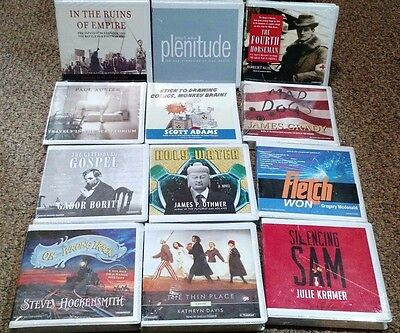 Lot of 30 SEALED Audiobooks - All Genres - Fiction / History / Nonfiction