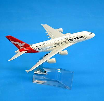 New QANTAS 1:514 Metal Aluminium Airbus A380 Aircraft Plane Model 14cm Small
