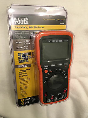 Klein Tools MM1000 Auto Ranging Digital Multimeter / Tester with Backlit Display