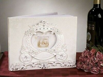Beautiful New Fairytale Theme Coach Guest Book Wedding Guest Book