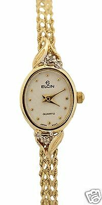 Vintage Elgin Quartz 14K Yellow Gold 14mm Circa 1930s Watch