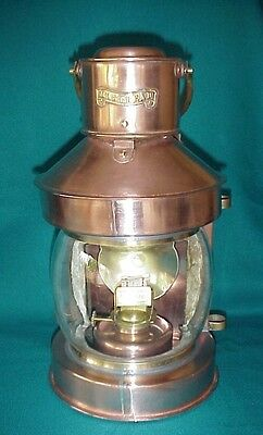 Antique Masthead  Lantern Copper & Brass Oil Lookout Nautical Maritime England