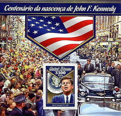 Guinea-Bissau 2017 MNH John F Kennedy JFK 100th Bday 1v S/S US Presidents Stamps