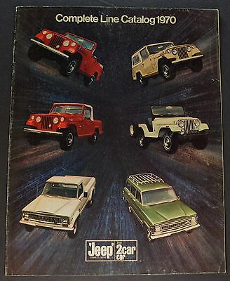 1970 Jeep Brochure Wagoneer Gladiator Pickup Truck Universal Jeepster Commando