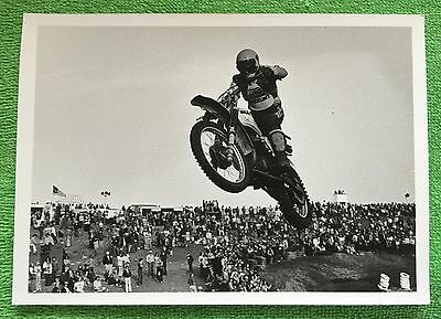 Vintage Roger Decoster MOTOCROSS B&W 7x5 PHOTOGRAPH Rare Picture & Free GIFT!