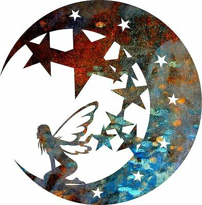 DXF CNC dxf for Plasma Laser Fairy Moon Stars Clip Art Vector Metal Wall Art Dxf