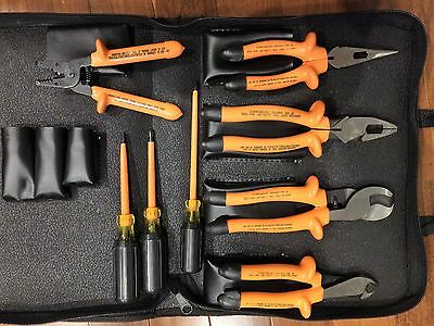 Klein Tools Premium Insulated 8-Piece Tool Kit pliers screwdrivers cable cutter