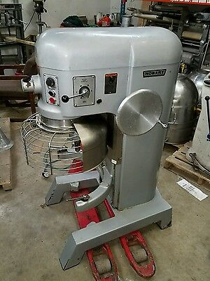 Hobart 60qt H600 Mixer 2 HP 3 phase With Stainless Steel Bowl bowl guard tools