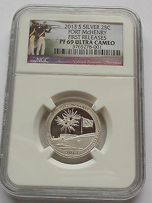 2013 Fort Mchenry Silver Proof Quarter 25C Pf69 Ngc