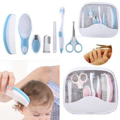 7pcs Newborn Baby Kids Nail Hair Health Care Grooming Manicure Brush Set Kit DY