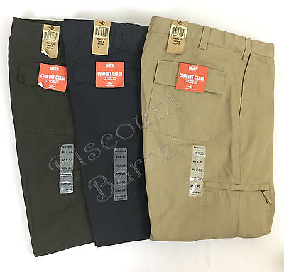 New Men's Dockers Pacific Comfort Classic Fit Cargo Pants Variety