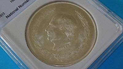 1952 Mexico 5 Pesos Hidalgo Ms-65 Silver Coin Mint Uncirculated Wow!