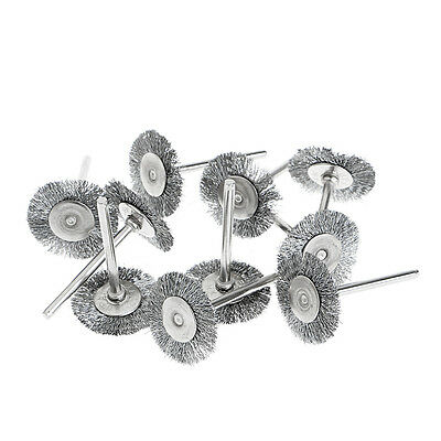 10x Steel Wire Wheel Brushes Cup Rust Rotary Electric Tool Engraver Abrasive