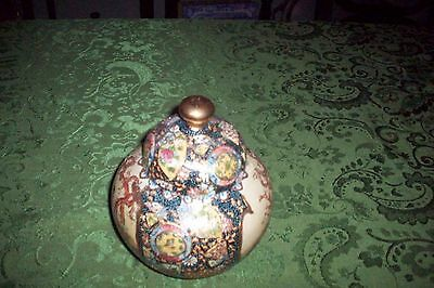 Large  Pottery Signed Satsuma Made In China Mint Condition No Reserve