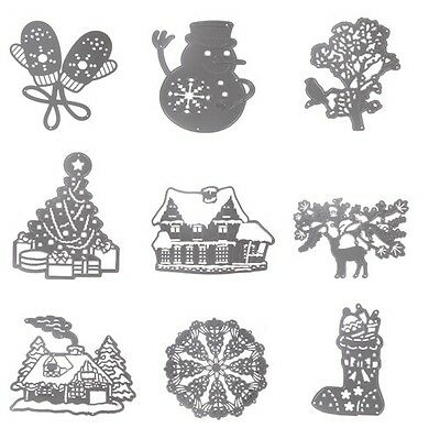 DIY Christmas Cutting Dies Stencil Scrapbooking Album Paper Card  Embossing Craf