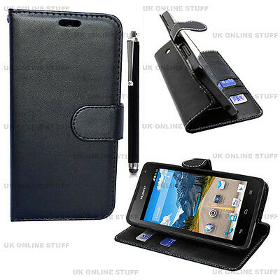 Luxury PU Leather Black Flip Case Wallet Cover Stand For Samsung Galaxy Models